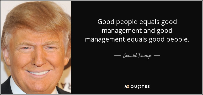10 People Management Tips I've learnt From Donald Trump