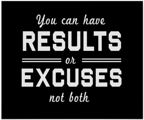 Say NO to Excuses, Blame and Complains